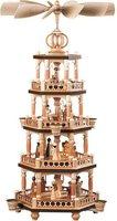 Müller Kleinkunst 4-stöckige Weihnachtspyramide Heilige Geschichte (65 cm)