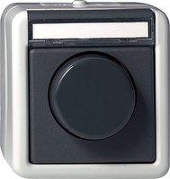 Gira Glühlampen-Dimmer mit Druck-Wechselschalter mit Beschriftungsfeld (030130)