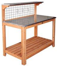 Habau Gartentisch mit verzinkter Arbeitsplatte (695-FSC)
