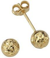 Goldene Ohrstecker, diamantiert