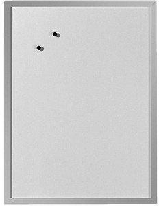 Herlitz Whiteboard und Magnettafel 40 x 60cm weiß (Holzrahmen in silber) 10524627