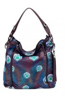 OiOi Wickeltasche Tote Peacock Feathers