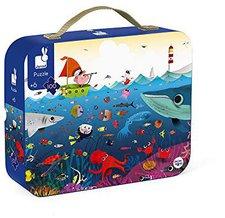 Janod Puzzle Köfferchen - Unterwasserwelt (100 Teile)