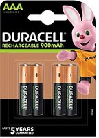 Duracell 4x AAA Mikro NiMH HR03 12 V 800 mAh Stay Charged Batterie
