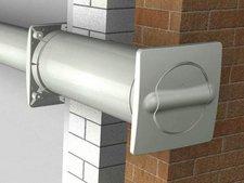 Air-Circle Mauerkasten mit Abluft- und Zuluft-Führung zu Abluftsystem 125