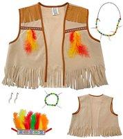 Widmann Kinderkostüm Set Indianer