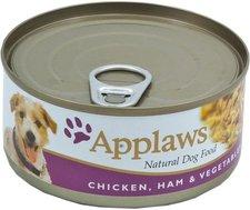 Applaws Hundefutter Huhn, Schinken & Gemüse 156 g
