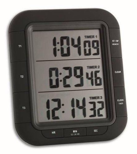 TFA Dostmann Elektronischer 3-fach Timer