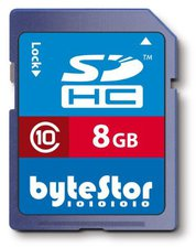 ByteStor SDHC Card 8 GB Class 10