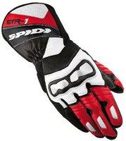 Spidi STR-1 Leather Gloves Black/Red