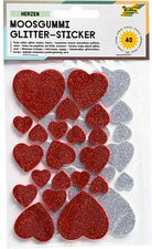 Folia Moosgummi Glitter-Sticker (23791)