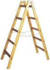 Leifheit Unimet Holz Doppelsprossen - Leiter 2 x 7