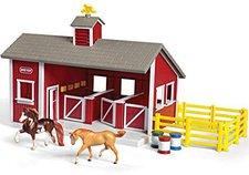 Breyer Stablemates Roter Stall mit 2 Pferde
