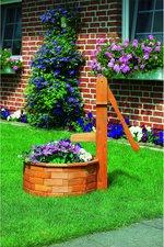Promex Holzschwengelpumpe mit Holztrog rund