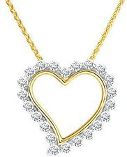 Bella Donna Gelbgoldkette Diamantherz (630482)