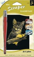 Mammut Scraper Kratzbild mini gold Katze