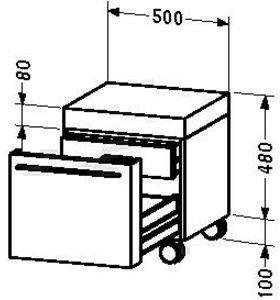 Duravit Fogo Rollcontainer (9543)
