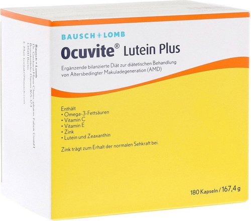 Bausch & Lomb Ocuvite Lutein Plus Kapseln (180 Stk.)