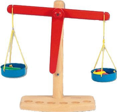 Beeboo Balancewaage mit 6 Gewichten