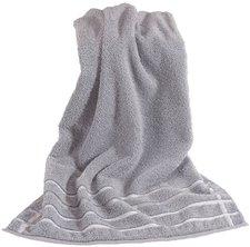 Vossen Quadrati Handtuch (50 x 100 cm) kiesel / weiß