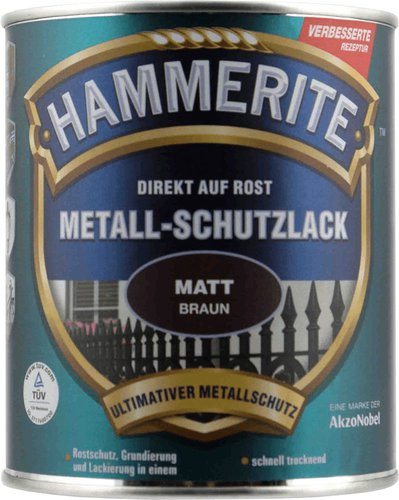 Hammerite Metallschutzlack matt braun 750ml