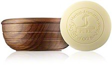 Taylor of Old Bond Street Sandalwood Herbal Shaving Soap in Wooden Bowl (100 g)