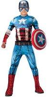 Rubies Kostüm Captain America Deluxe