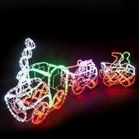 LED-Gigant LED-Weihnachtszug bunt 3-teilig