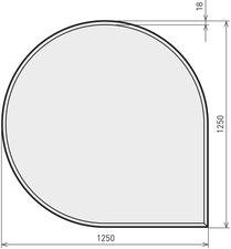 glasplatte tropfenform f r kamin fen g nstig online bestellen. Black Bedroom Furniture Sets. Home Design Ideas