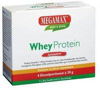 Megamax Wheyprotein Lactosefrei Vanille Schoko Pulver (4 x 30 g)