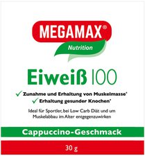 Megamax Eiweiss 100 Cappuccino Megamax Pulver (30 g)