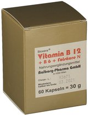 Aalborg-Pharma Vitamin B12 + B6 + Folsäure Komplex N Kapseln (60 Stk.)