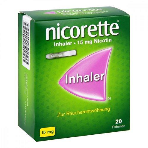 McNeil Nicorette Inhaler 15 mg Patronen + Mundstück (20 Stk. + 1 Stk.)