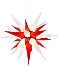 Herrnhuter Sterne Stern weiß rot Innenbereich (60 cm)