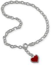 SilberDream Herz rot Fußkettchen (SDF006)