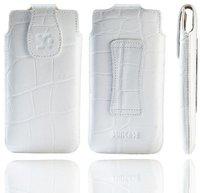 SunCase Ledertasche Croco Weiß (Nokia Lumia 820)