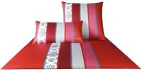 Joop Bettwäsche Ornament Stripe (135 x 200 cm) mohn