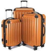 Hauptstadtkoffer 4-Rollen-Hartschalen-Trolley-Set 3-tlg. 55/63/75 cm orange TSA