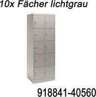 Dema Schließfachschrank 10 Fächer Lichtgrau (40560)