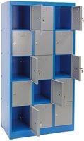 Dema Schließfachschrank 15 Fächer blau/grau (40562)