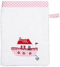 Hansekind Waschhandschuh Hausboot rosa