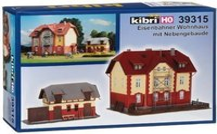 Kibri Eisenbahner Wohnhaus mit Nebengebäude (39315)