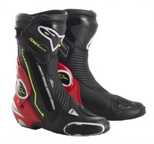 Alpinestars S-MX Plus Boot weiss/schwarz/rot