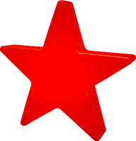 8 seasons Shining Star 100 cm Outdoor weiß (32379)