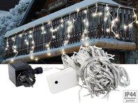 Lunartec LED Lichterketten-Vorhang Snow