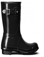 Hunter Boot Original Gloss Short black