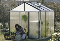 Gartenpro Profigewächshaus Typ 21 ET (HKP 10mm, Alu blank)