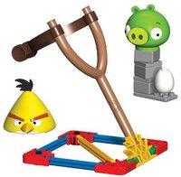 KNEX Angry Birds Gelber Vogel vs. Medium Minion Schwein