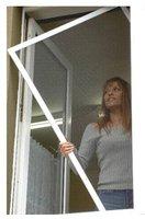 UNIMET Fliegengitter für Fenster weiß (150 x 150 cm)