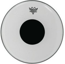 """Remo Smooth White Controlled Sound Bassdrum Top Black Dot 24 """""""